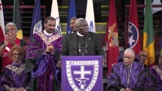 Reverend Randolph Miller singing at Reverend Clementa Pinckney Funeral
