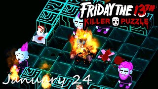 Friday the 13th Killer Puzzle Daily Death January 24 2021 Walkthrough
