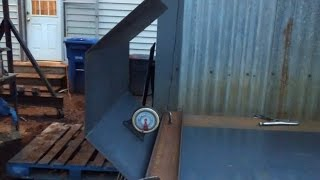How to bend steel plate without a brake