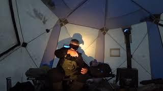 Первый лед 2019 2020 Рыбалка в Якутии Рассказ о палатке и быту на льду
