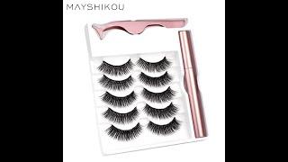 Mayshikou 3d 5 пар магнитных ресниц с аппликатором для подводки глаз набор накладных смешанных