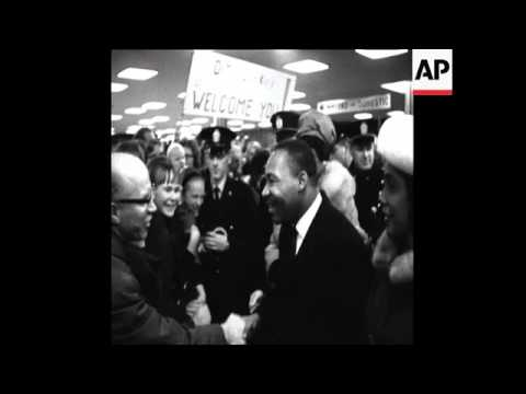 CAN391 DR. KING ARRIVES IN NORWAY FOR NOBEL PEACE PRIZE