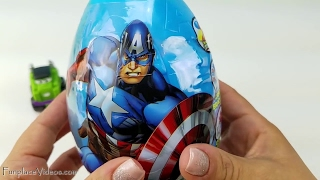 Kids Superhero Giant Surprise Eggs Easter Candy Egg Spider-Man Hulk Toy Children Lil Chuck Race Car