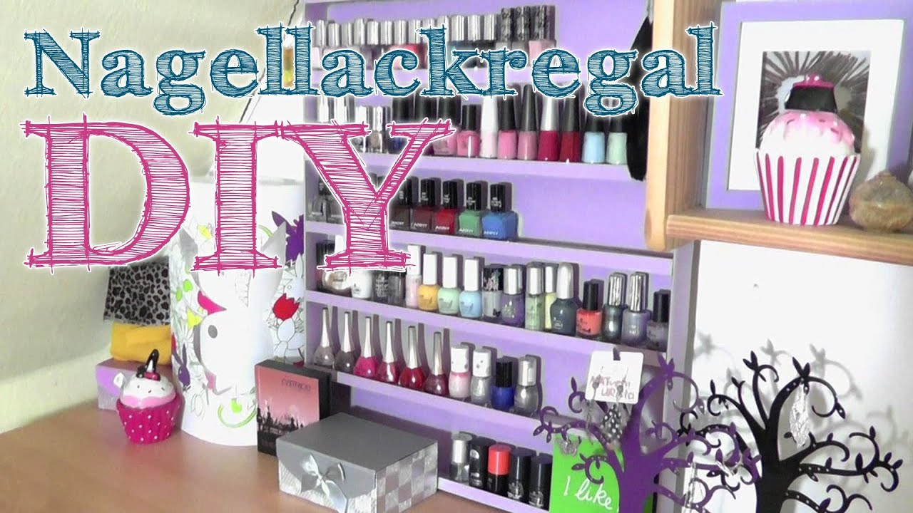 diy nagellack regal aufbewahrung youtube. Black Bedroom Furniture Sets. Home Design Ideas