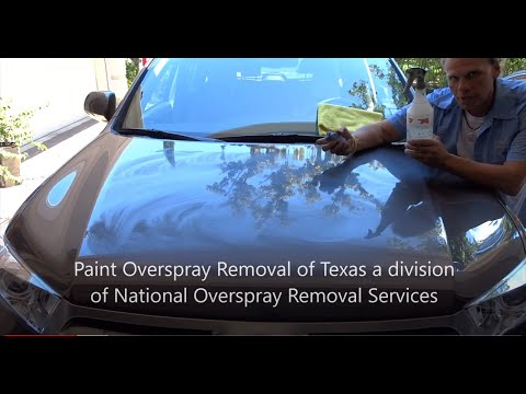 """Spray-Paint Overspray Removal """"National Overspray Removal Onsite Services"""""""