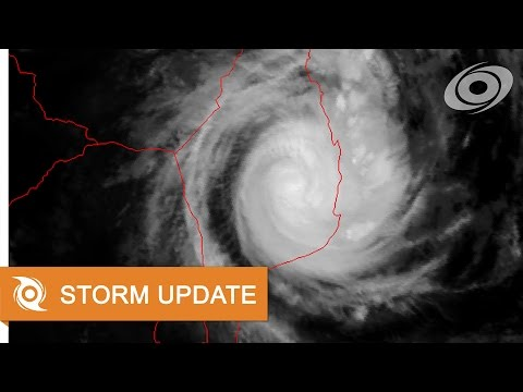 Cyclone Dineo over Mozambique - Update 5 (16/02/2017, 03:00 UTC)