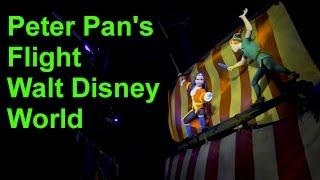 Peter Pan's Flight Full On Ride Low Light POV with Queue Walt Disney World