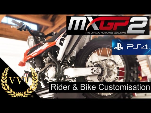 MXGP 2 PS4  Preview   Rider & Bike Customisation