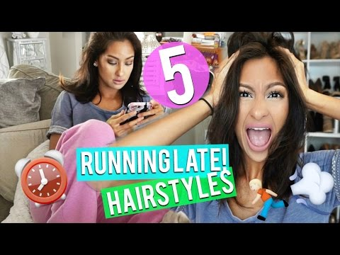 5 RUNNING LATE HAIRSTYLES- Quick & Easy! NO HEAT!