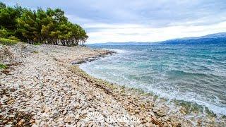 beach Dorotea, Supetar, island Brač, Croatia