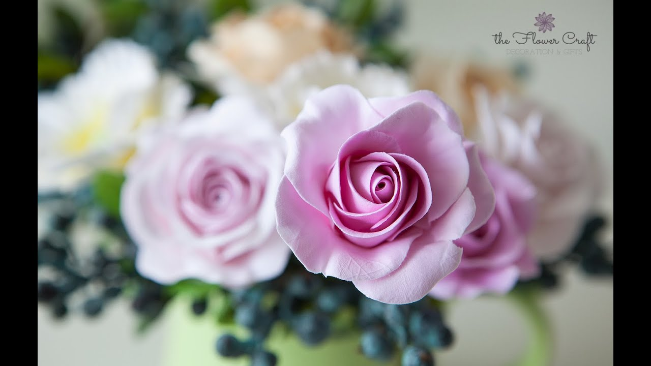 How To Make A Rose Clay Flower For Beginners