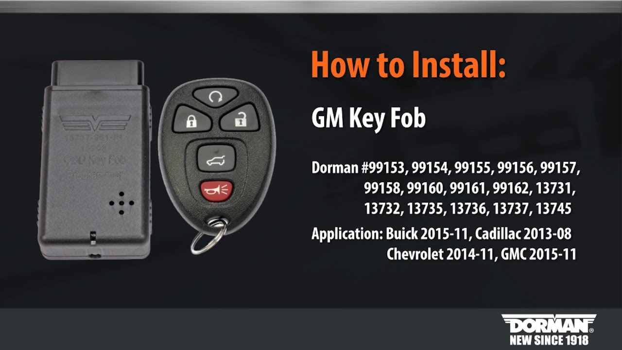 Gm Key Fob Programming By Dorman Products