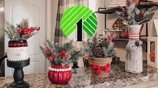 Dollar Tree Christmas DIY 2019 | Christmas Farmhouse Home Decor | Glass Jars ideas