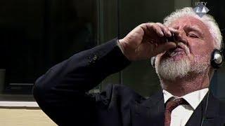 UN war crimes suspect died after drinking poison in court