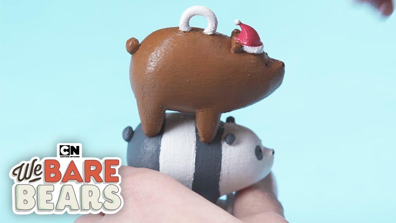 3d Printed Christmas Ornaments.We Bare Bears 3d Printed Bearstack Ornament Cartoon Network