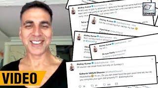 Akshay Kumar Amuse Fans On Twitter With #AskAkshay Session   LehrenTV
