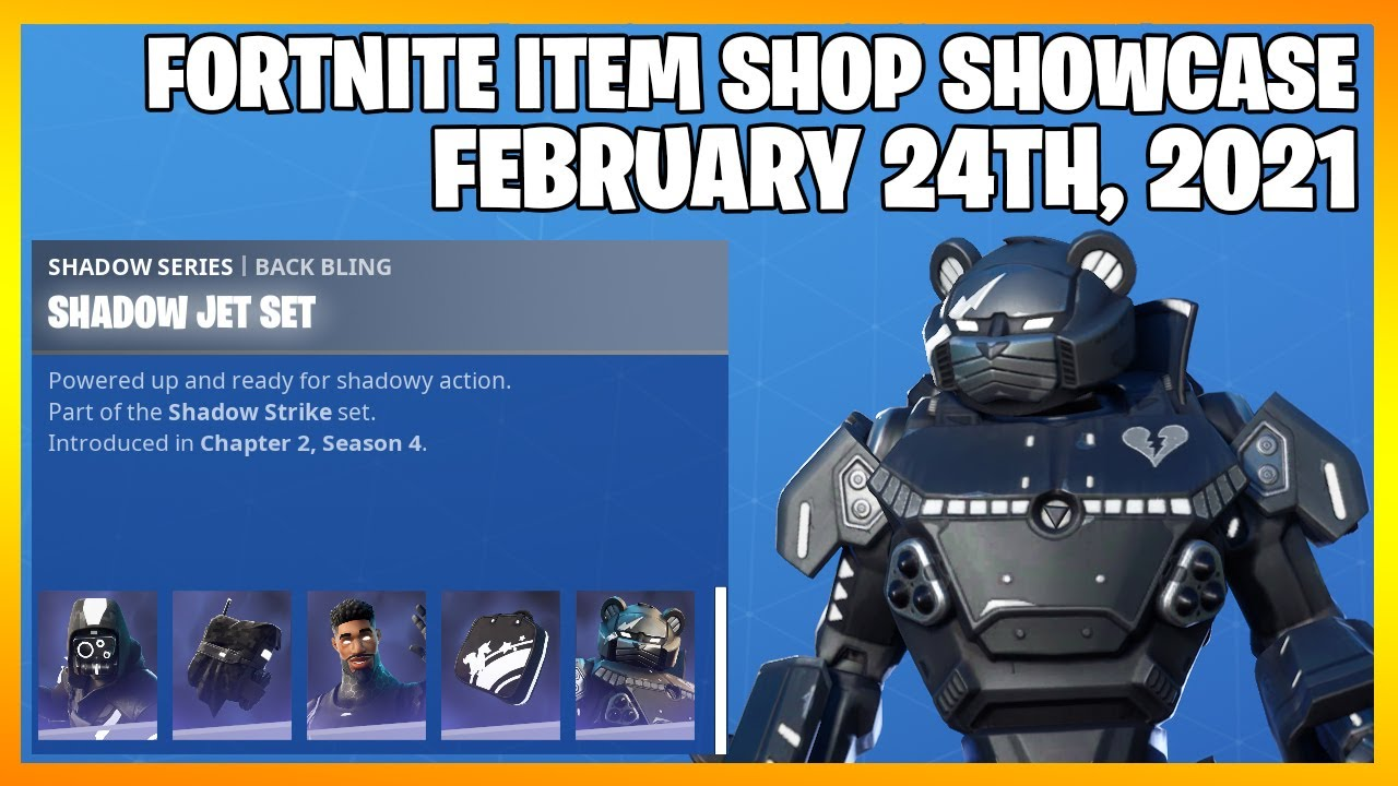 Fortnite Item Shop SHADOW STRIKE PACK IS BACK! [February 24th, 2021](Fortnite Battle Royale)
