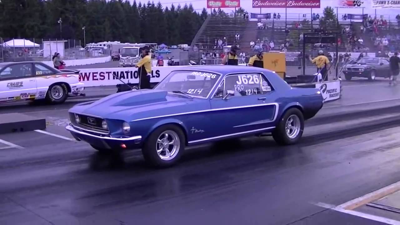 & 1968 Ford Mustang Drag Racing runs 11.9 @ 109 MPH - YouTube markmcfarlin.com