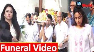 Full Video: Bhagyashree, Swara Bhaskar & others at the Funeral of Sooraj Barjatya's Father Raj Kumar