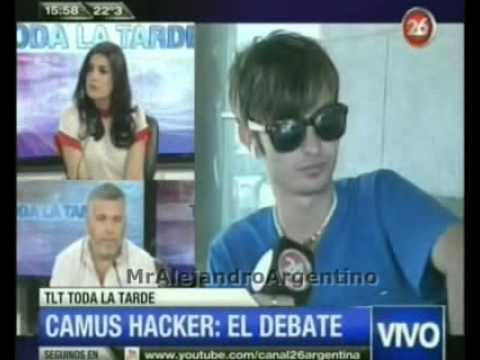Camus: El Hacker que aterra a los famosos || TLT Toda la tarde || Canal 26