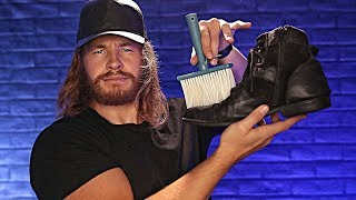 Charming English Shoe Cleaner [ASMR]