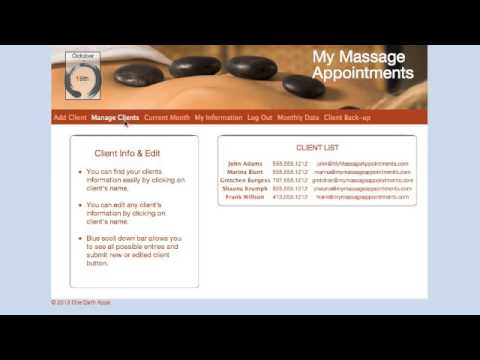 My Massage Appointments - Automatic Email Reminders