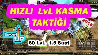 +60 LvL!! SERİ LVL KASMA! 1.5 saatte 60 LvL Taktiği Knight online 2018 exp