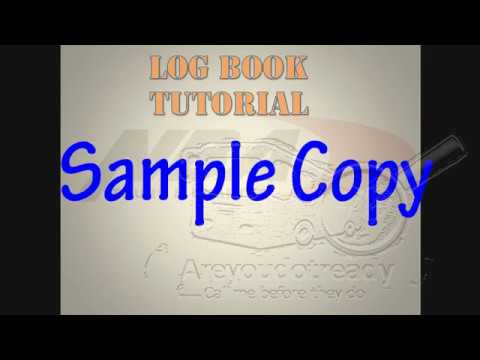 sample copy of log book tutorial youtube