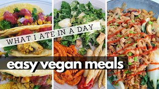 WHAT I ATE IN A DAY (Easy Vegan Meals & Supplement I'm Taking)