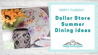 Thrifty Thursday Dollar Store Summer Dining Ideas YT