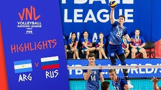 ARGENTINA vs. RUSSIA - Highlights Men | Week 5 | Volleyball Nations League 2019
