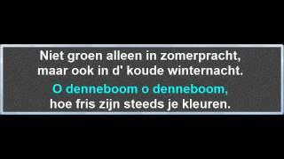 O Denneboom, instrumentaal met karaoke tekst