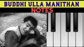 Butthiulla Manidharellam Vetrikanbadhillai | Annai Movie | Chandrababu | ** NOTES ** | Piano Cover |