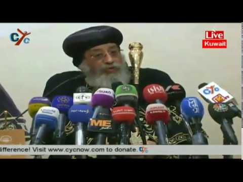 Press conference for HH Pope Tawadros II from Kuwait