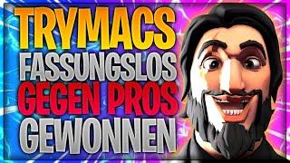 😎👀 TRYMACS FASSUNGSLOS! Solo Duo gegen Pros gewonnen! | Fortnite Battle Royale