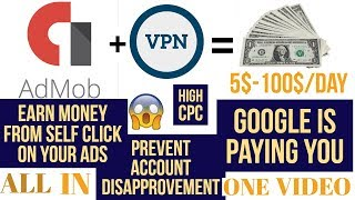Earn money from Google Admob and prevent it from getting Disable (Shortcut trick 100% Working)