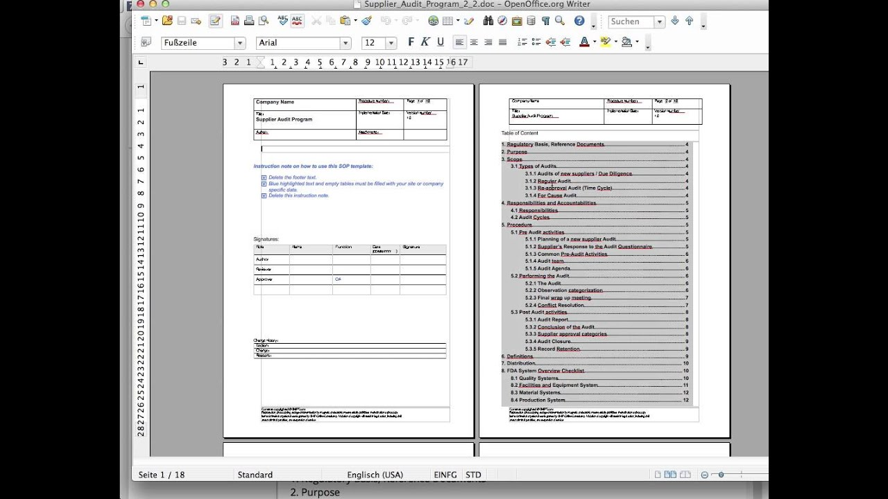 Supplier Audit Program