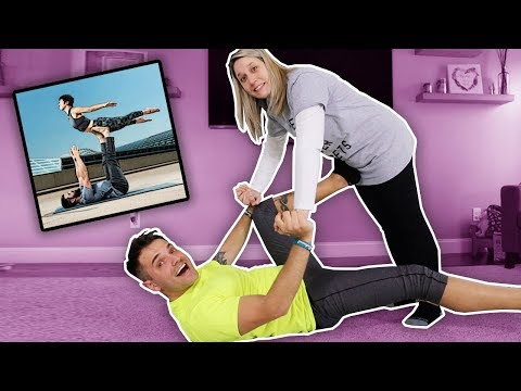 EXTREME COUPLES YOGA GONE WRONG!! *SHE FELL*