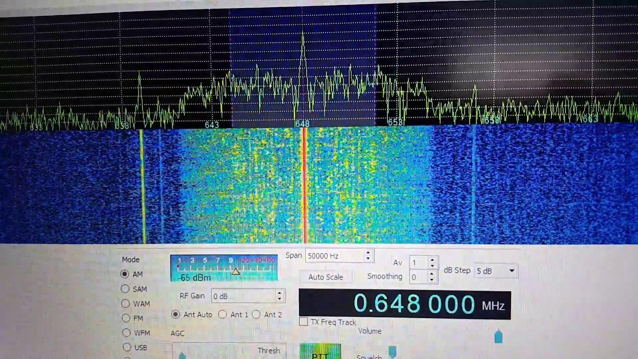 Test-transmissions of Radio Caroline on 648 khz Sunday 12th of November 2017