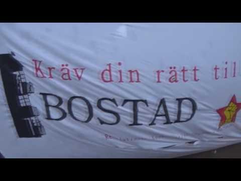 RKU Göteborg håller torgmöte emot bostadsbristen