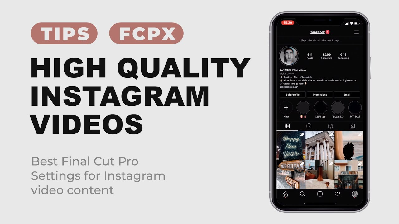How To Export High Quality Instagram Videos Best Final Cut Pro Settings For Instagram Video Posts Youtube