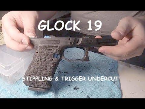 Glock 19 Stippling, Finger Groove Deletion & Trigger Guard Undercut