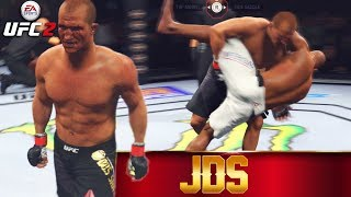 Junior Dos Santos Feels Like Grappling - Overeem Is A Mismatch - EA Sports UFC 2 Online Fights
