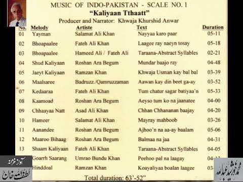 """Music of Indo Pakistan """"Kalyan Thaat"""" Archives Lutfullah Khan"""