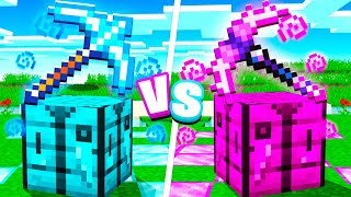 Boy vs Girl $1,000,000 ULTIMATE Minecraft Pickaxe! - Challenge