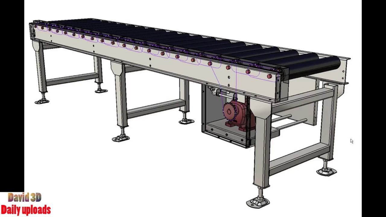 278 chain driven roller conveyor roller system free for 3d kuchenplaner roller