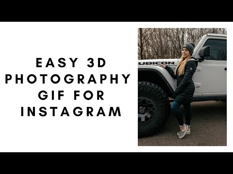 Easy 3D Photography Gif For Instagram
