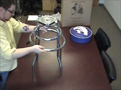 How To Assemble A Double Ring Bar Stool Youtube