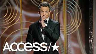 Seth Meyers Takes Aim At Harvey Weinstein, Kevin Spacey & Donald Trump At The 2018 Golden Globes