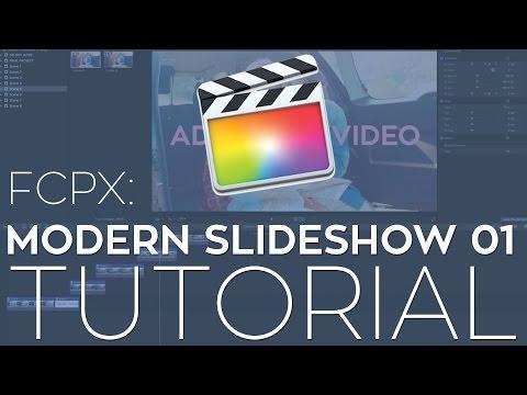 FCPX Modern Slideshow 01 Template Tutorial